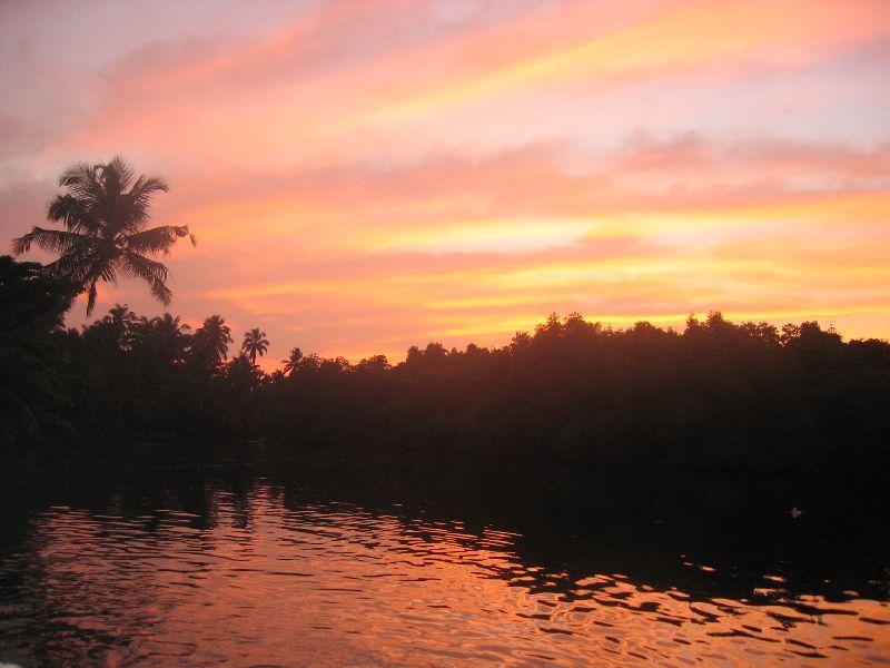 Sunset in der Lagune
