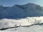 Oben Sonne, unten Nebel: Blick vom Schabell (2036 m)